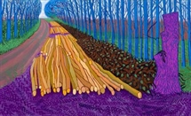 Konst: Hockney; Landscape, Portraits and one